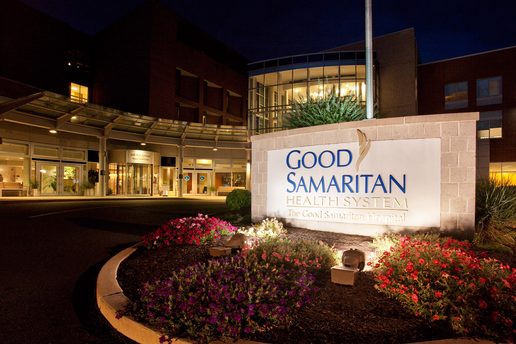 Twilight at the Good Samaritan Hospital in Lebanon, PA | J. Eldon Zimmerman Photography | Lancaster, PA Architecture Photographer