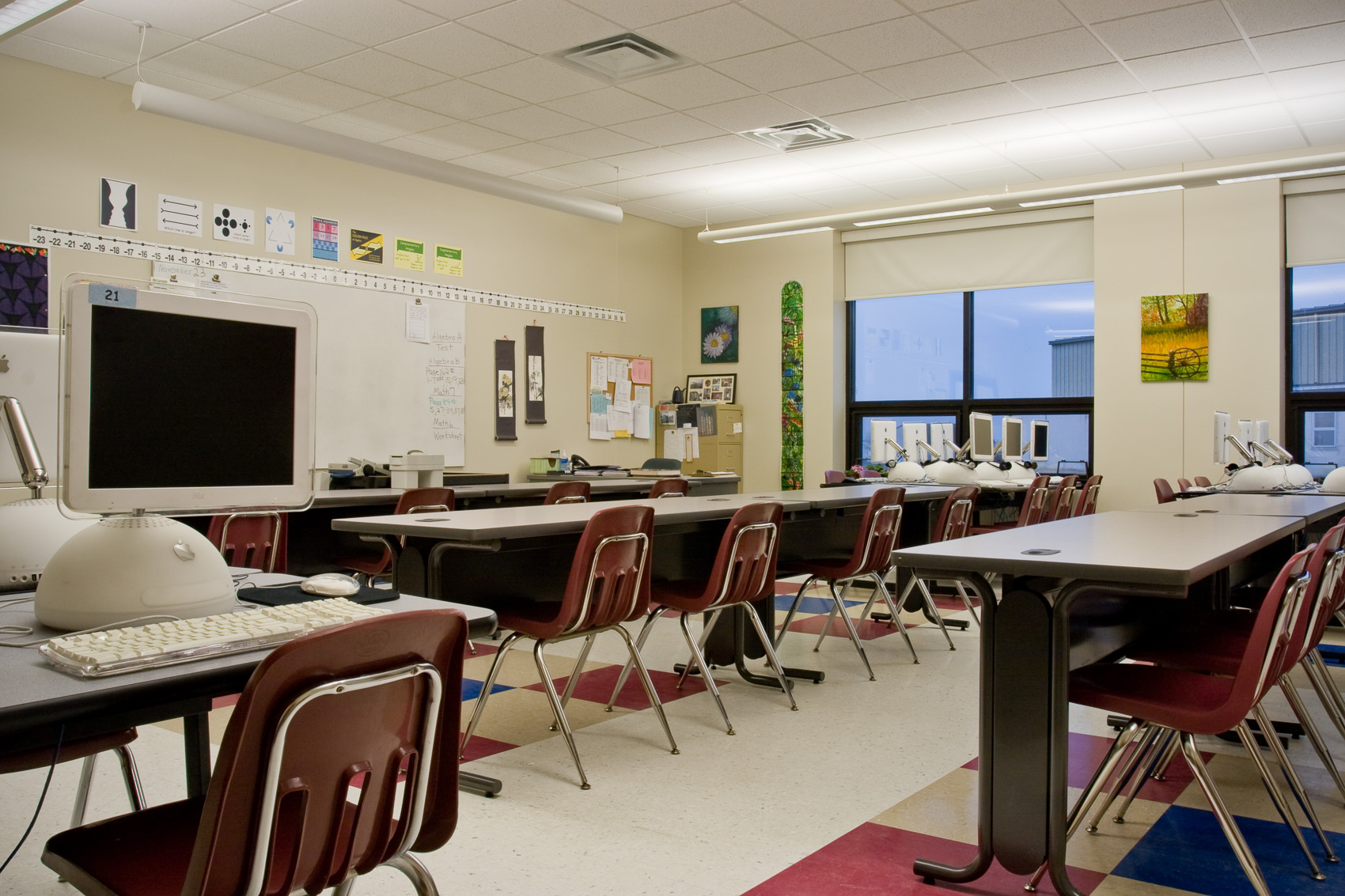 Math and Computer Lab at Hinkletown Mennonite School in Ephrata, PA | J. Eldon Zimmerman Photography | Lancaster, PA Architecture Photographer
