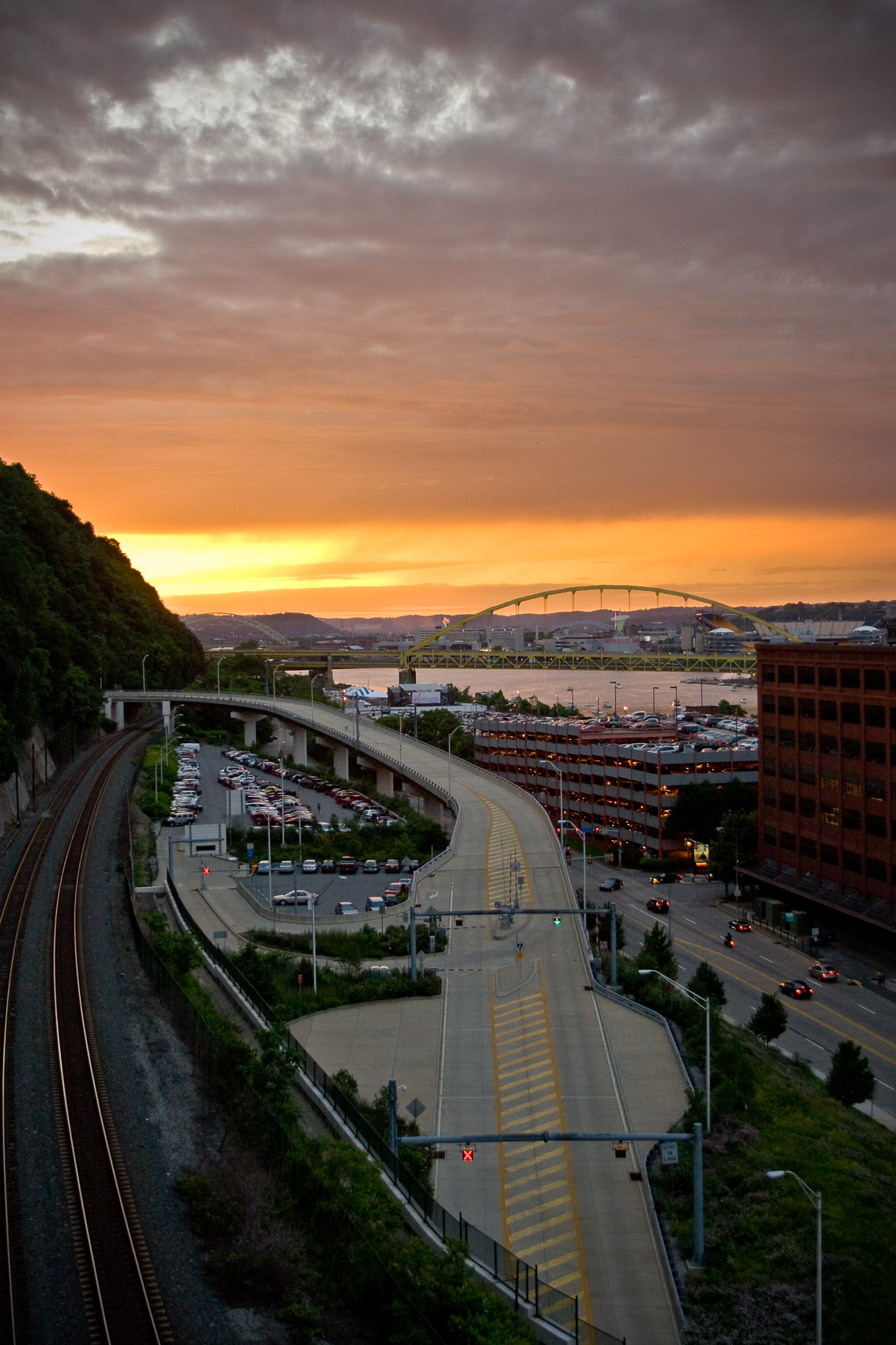 Sunset Photograph on Pittsburgh