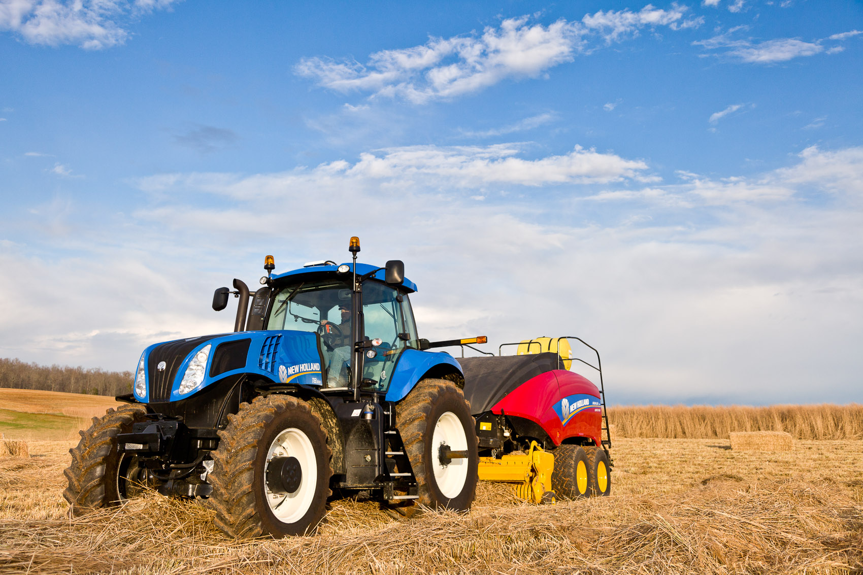 New Holland T8.300 Tractor with BB340 CropCutter Large Square Baler | J. Eldon Zimmerman Photography | Lancaster, PA Agriculture Photographer