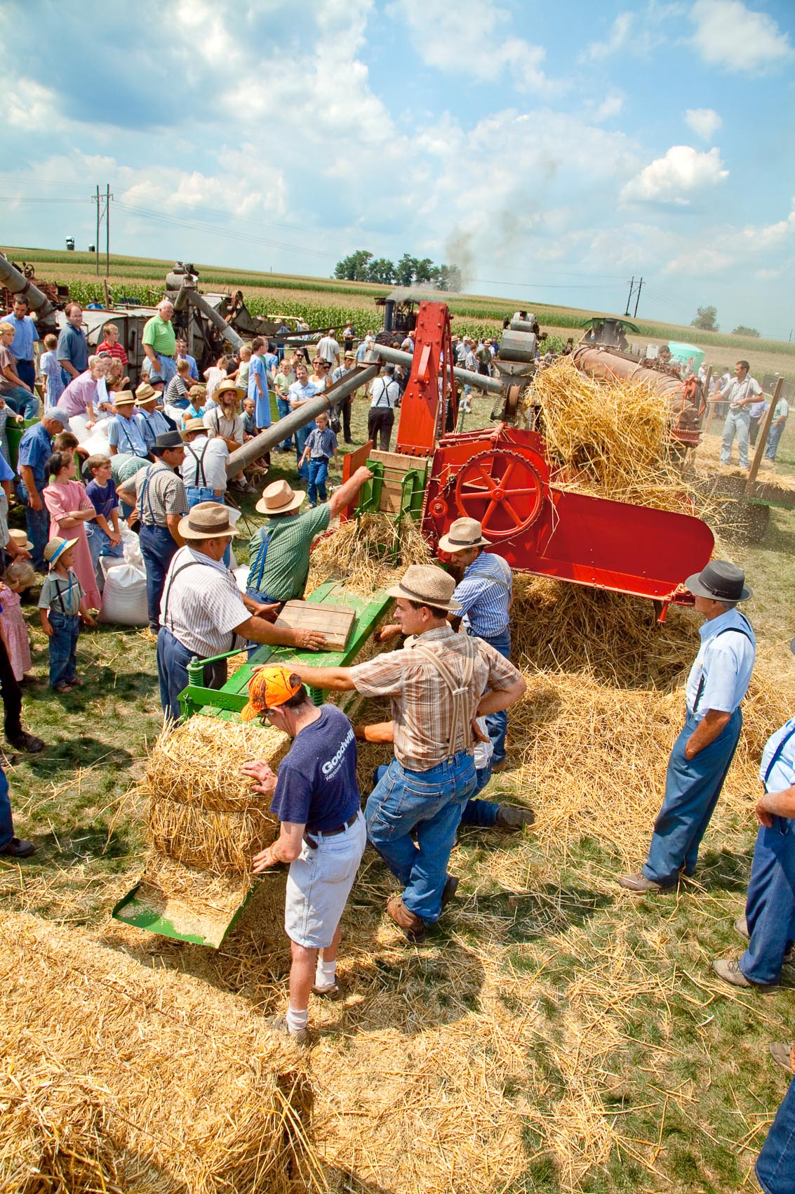 Demonstration of Baling Straw at the Shirktown Threshermans Reunion in New Holland, PA | J. Eldon Zimmerman Photography | Lancaster, PA Commercial Photographer