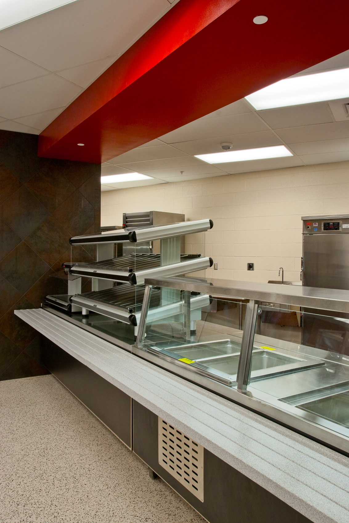 Custom Designed Cafeteria at Warwick High School iin Lititz, PA for Clark Foodservice Inc. | J. Eldon Zimmerman Photography | Lancaster, PA Architecture Photographer