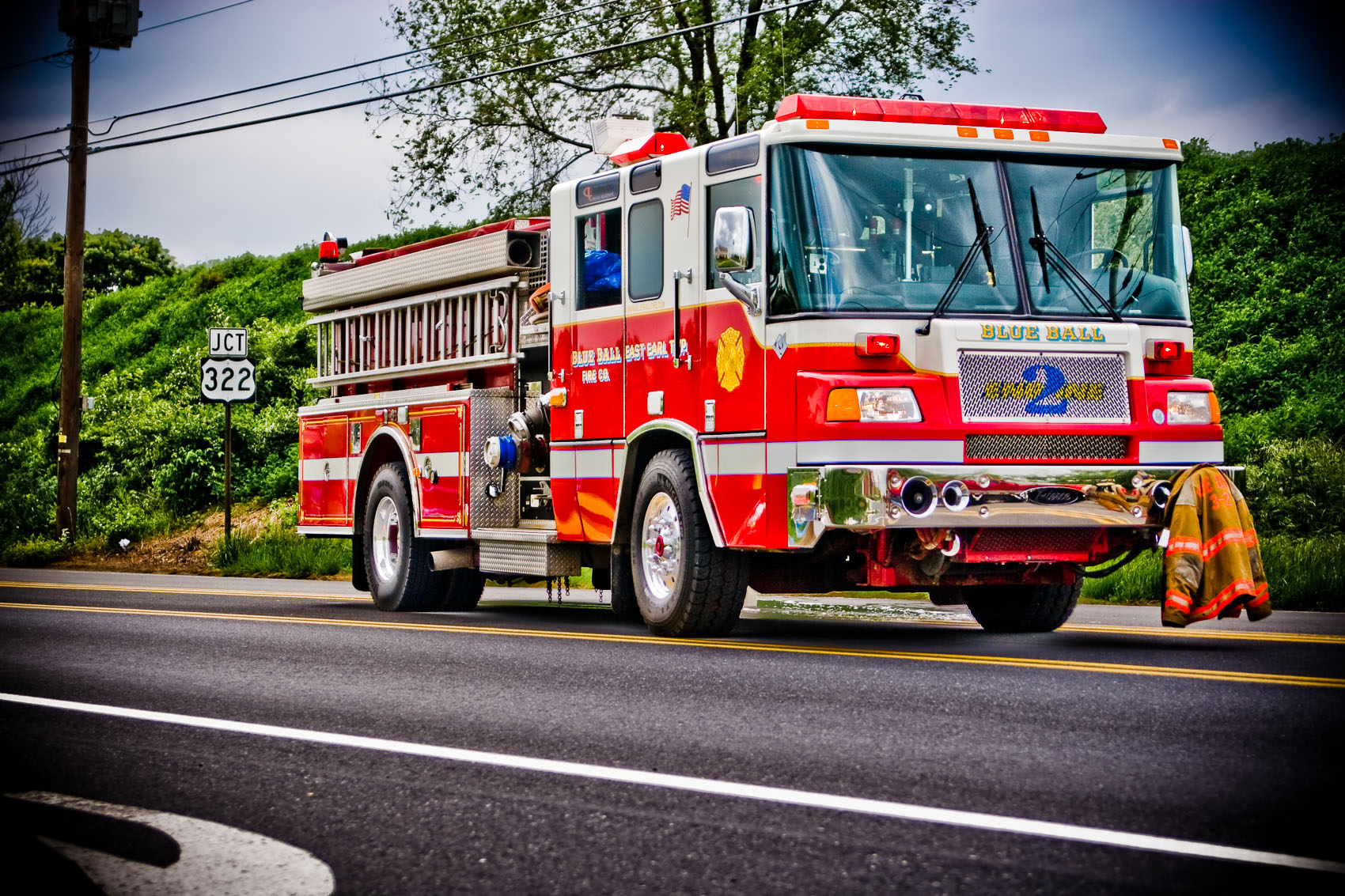 Location Photograph of a Firetruck in Lancaster County, PA | J. Eldon Zimmerman Photography | Lancaster, PA Commercial Photographer