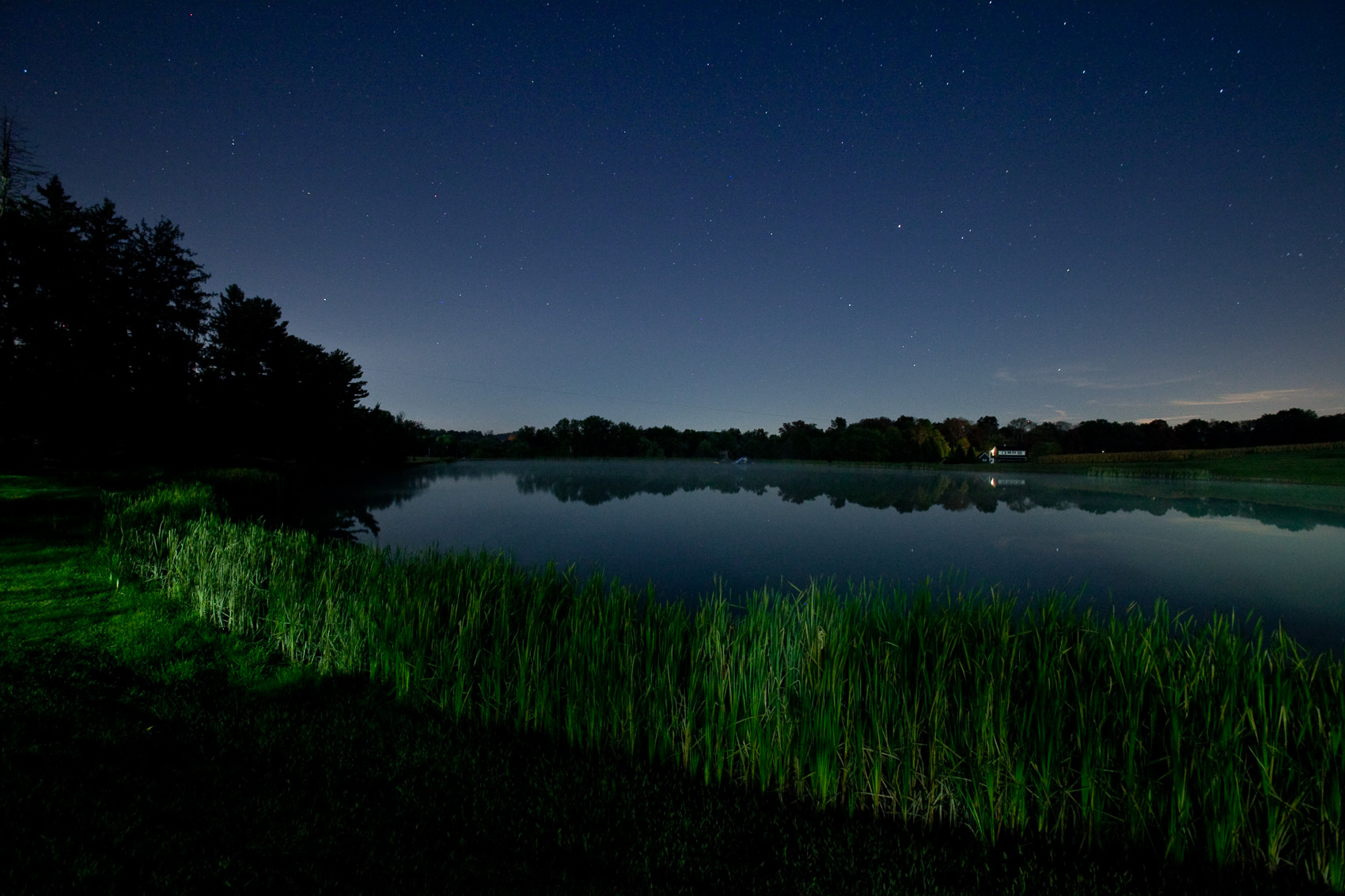 View of the Night Sky over a Peaceful Pond | J. Eldon Zimmerman Photography | Lancaster, PA Commercial Photographer